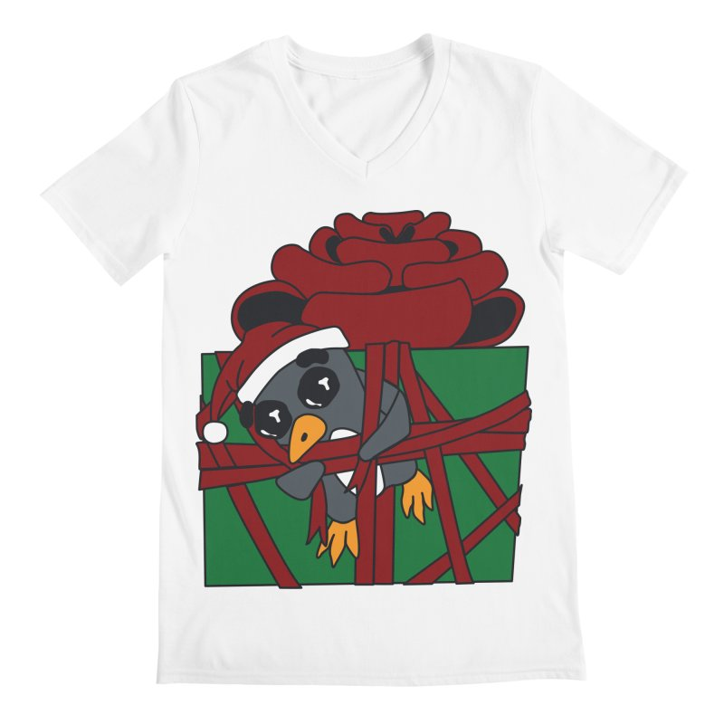 Getting Wrapped up in the Holidays Men's V-Neck by bluetea1400's Artist Shop