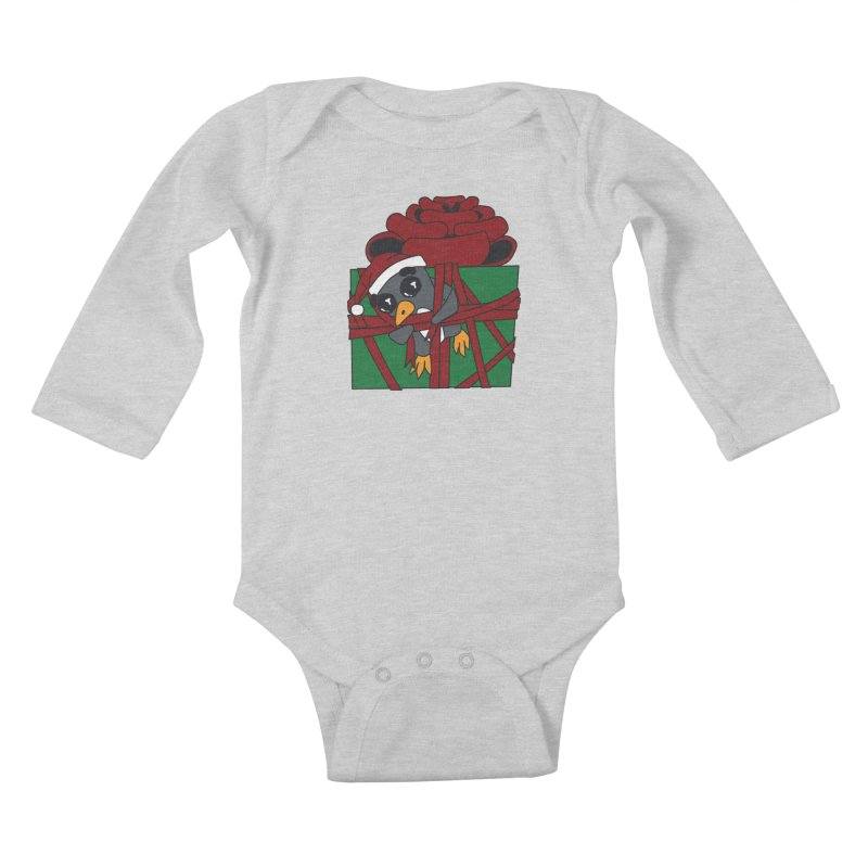 Getting Wrapped up in the Holidays Kids Baby Longsleeve Bodysuit by bluetea1400's Artist Shop