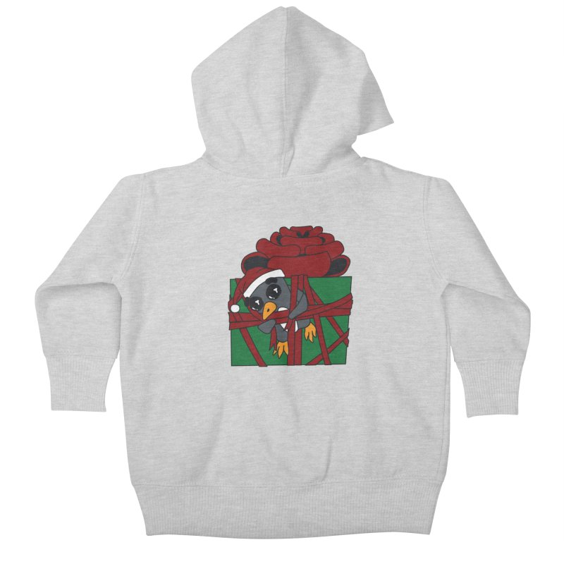 Getting Wrapped up in the Holidays Kids Baby Zip-Up Hoody by bluetea1400's Artist Shop