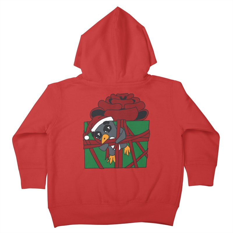 Getting Wrapped up in the Holidays Kids Toddler Zip-Up Hoody by bluetea1400's Artist Shop