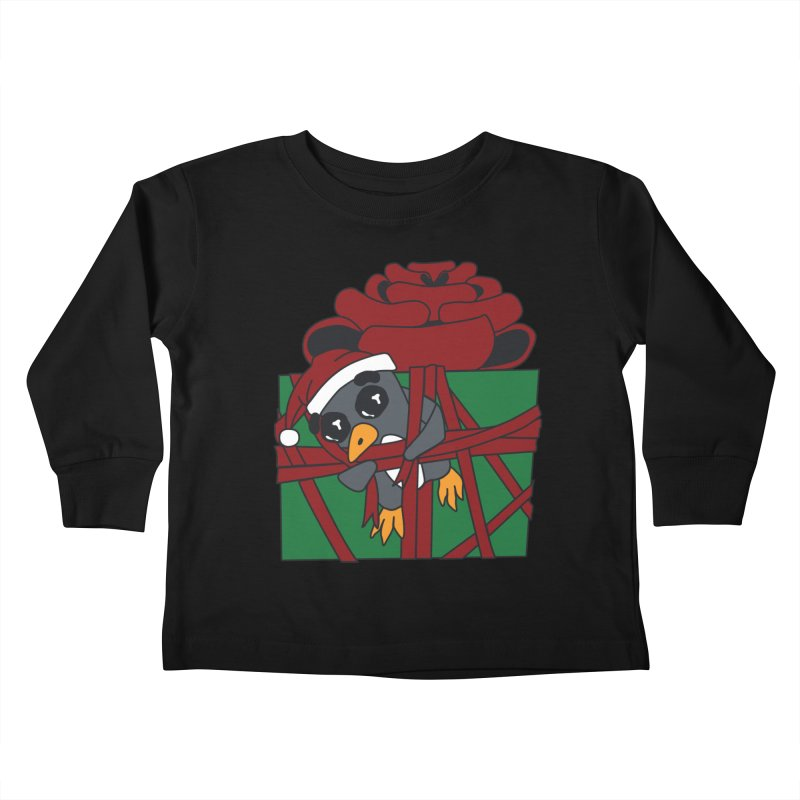 Getting Wrapped up in the Holidays Kids Toddler Longsleeve T-Shirt by bluetea1400's Artist Shop