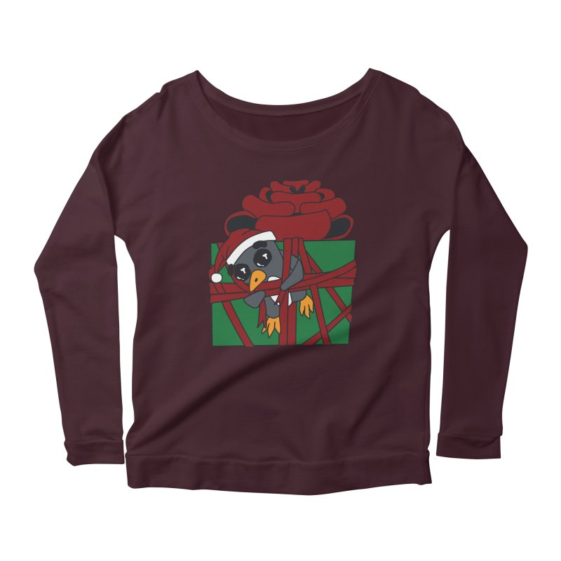 Getting Wrapped up in the Holidays Women's Scoop Neck Longsleeve T-Shirt by bluetea1400's Artist Shop