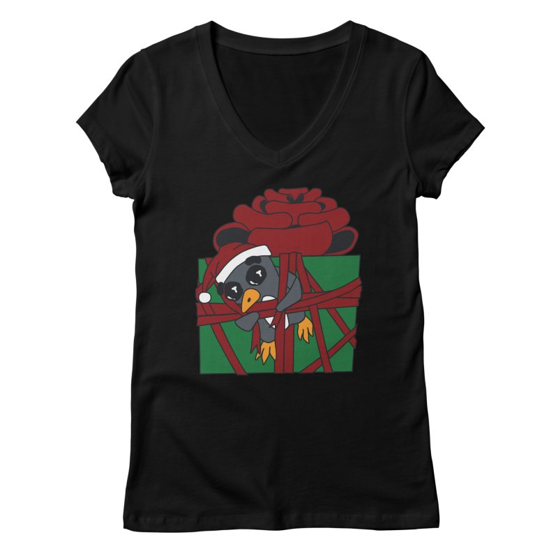 Getting Wrapped up in the Holidays Women's V-Neck by bluetea1400's Artist Shop