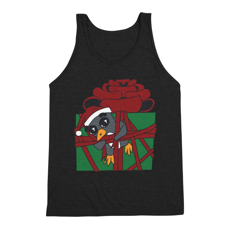 Getting Wrapped up in the Holidays Men's Triblend Tank by bluetea1400's Artist Shop