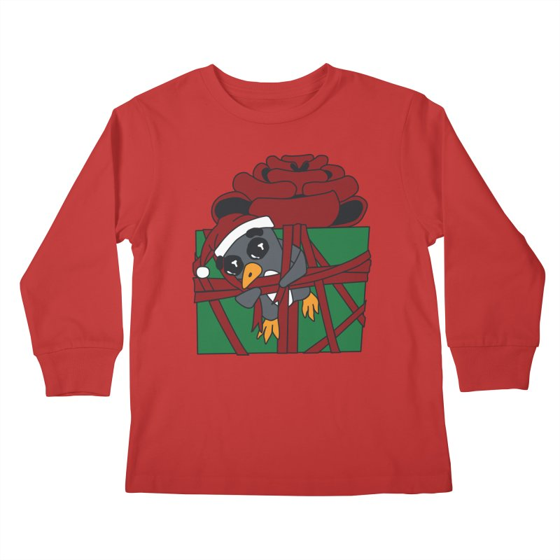 Getting Wrapped up in the Holidays Kids Longsleeve T-Shirt by bluetea1400's Artist Shop