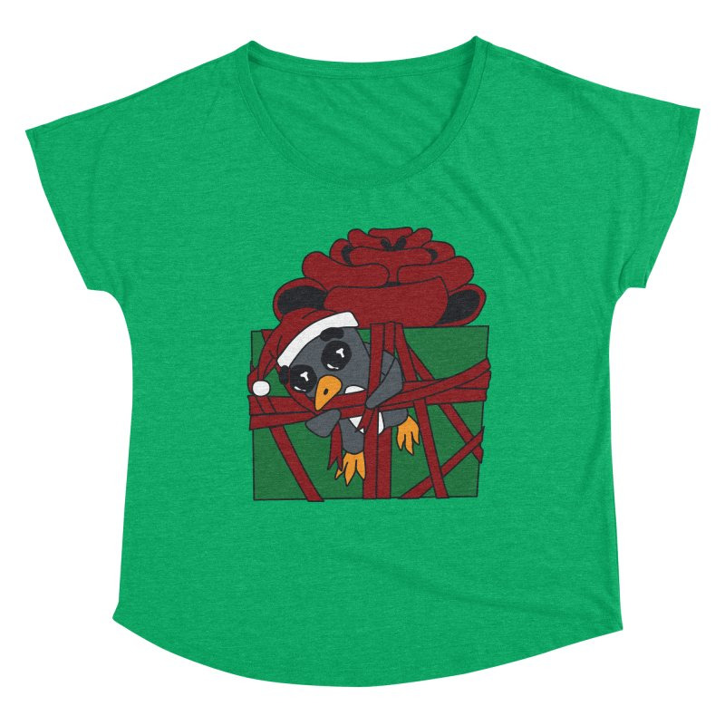 Getting Wrapped up in the Holidays Women's Scoop Neck by bluetea1400's Artist Shop