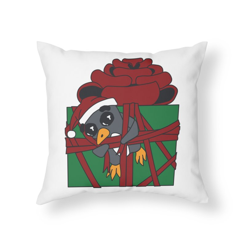 Getting Wrapped up in the Holidays Home Throw Pillow by bluetea1400's Artist Shop