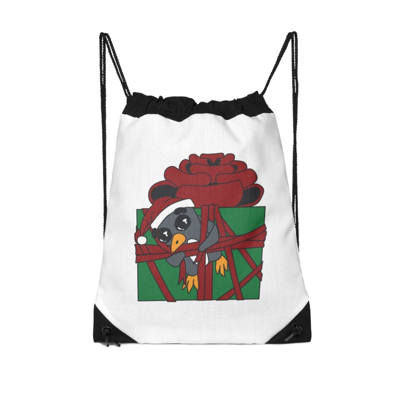 Getting Wrapped up in the Holidays Accessories Drawstring Bag Bag by bluetea1400's Artist Shop