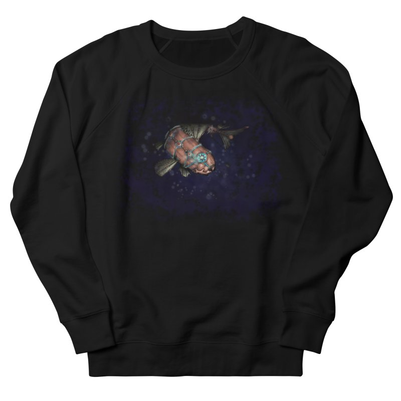 Mecha Carp in Women's French Terry Sweatshirt Black by bluetea1400's Artist Shop