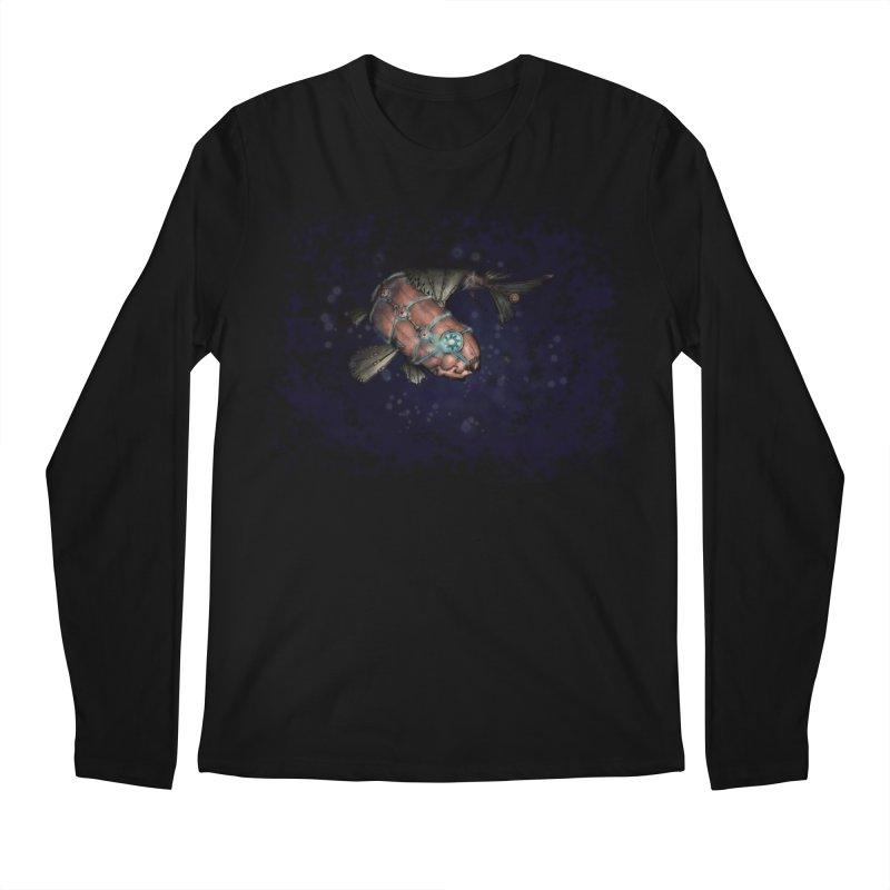 Mecha Carp Men's Regular Longsleeve T-Shirt by bluetea1400's Artist Shop