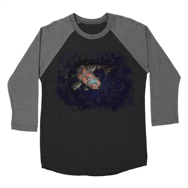 Mecha Carp Men's Baseball Triblend Longsleeve T-Shirt by bluetea1400's Artist Shop