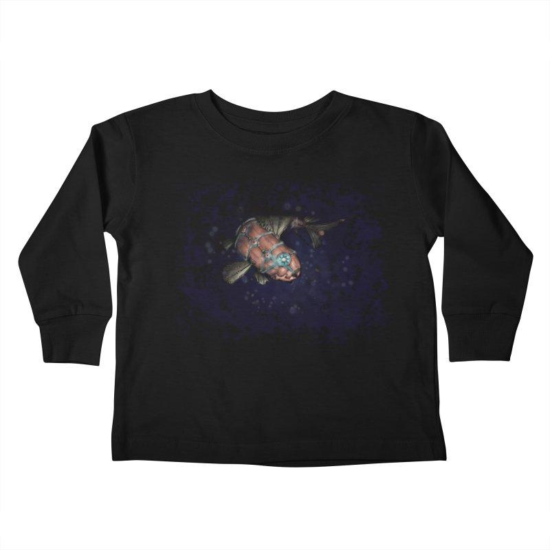 Mecha Carp Kids Toddler Longsleeve T-Shirt by bluetea1400's Artist Shop
