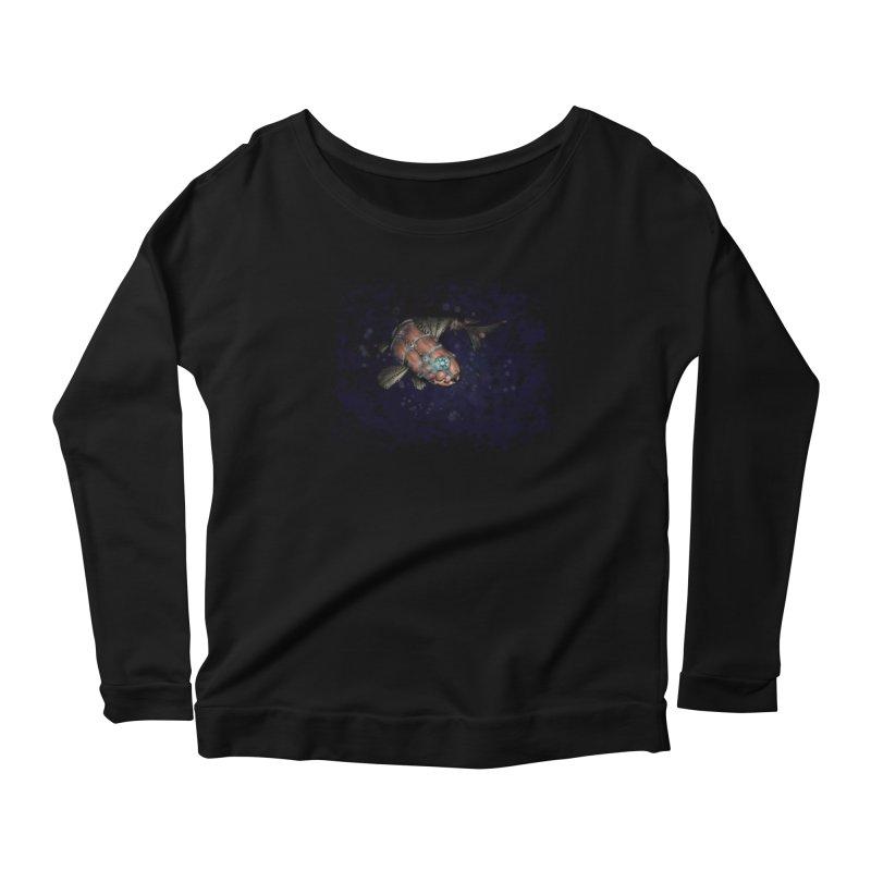 Mecha Carp Women's Scoop Neck Longsleeve T-Shirt by bluetea1400's Artist Shop
