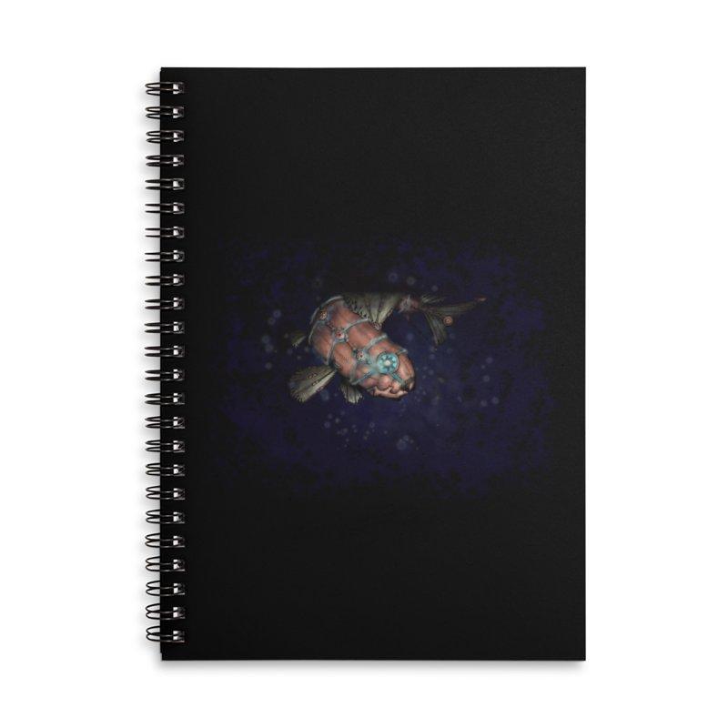 Mecha Carp Accessories Lined Spiral Notebook by bluetea1400's Artist Shop
