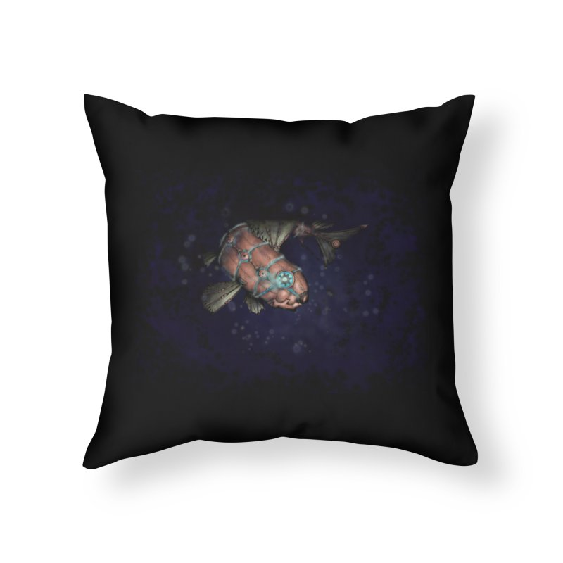 Mecha Carp Home Throw Pillow by bluetea1400's Artist Shop