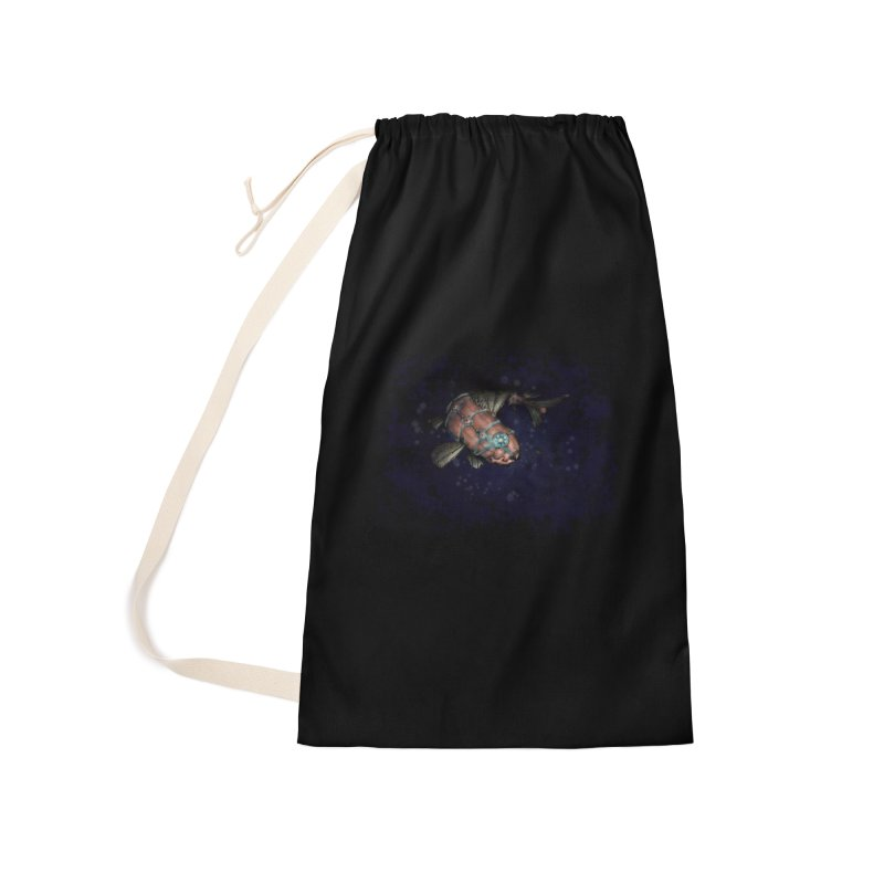 Mecha Carp Accessories Laundry Bag Bag by bluetea1400's Artist Shop