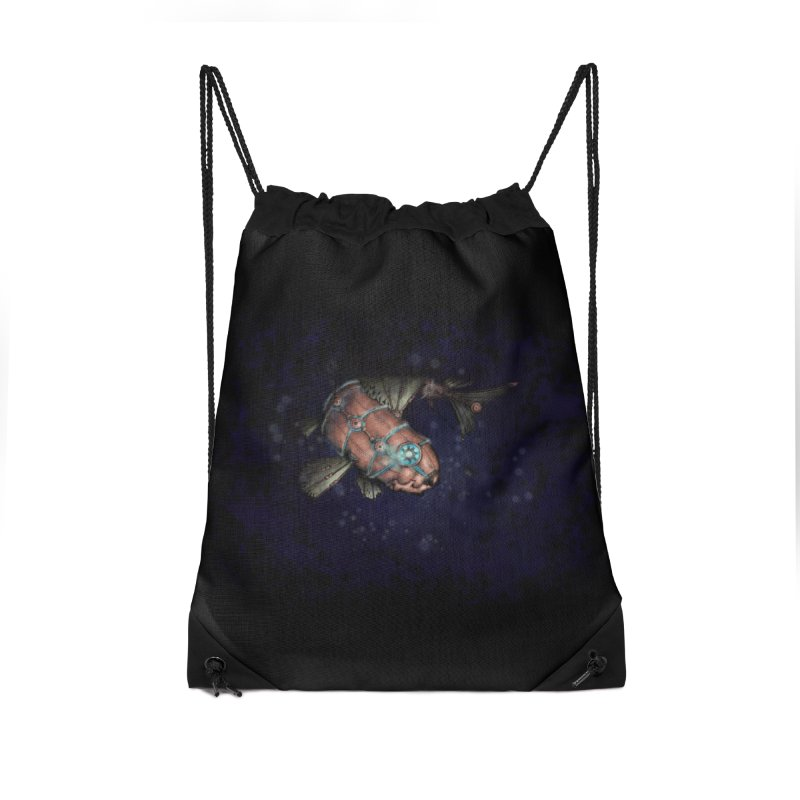 Mecha Carp Accessories Drawstring Bag Bag by bluetea1400's Artist Shop