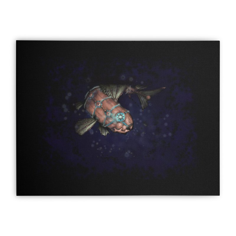 Mecha Carp Home Stretched Canvas by bluetea1400's Artist Shop