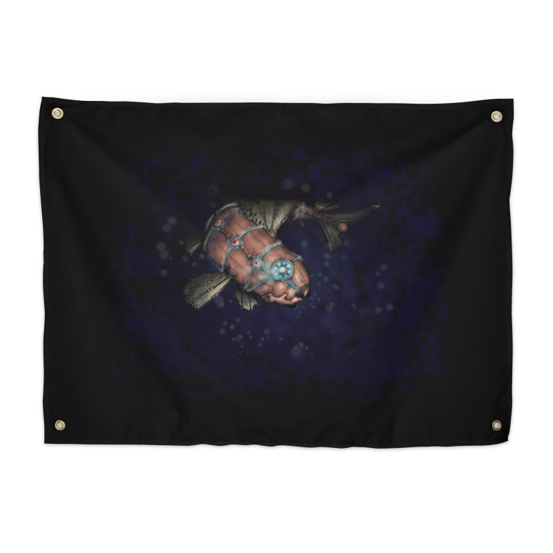 Mecha Carp Home Tapestry by bluetea1400's Artist Shop