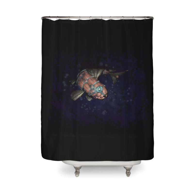 Mecha Carp Home Shower Curtain by bluetea1400's Artist Shop