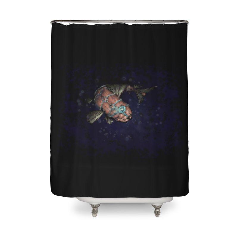 Mecha Carp Home Shower Curtain by bluetea1400's Artist Shop