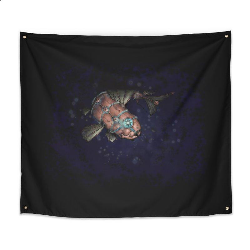 Mecha Carp Home Tapestry by bluetea1400's Artist Shop