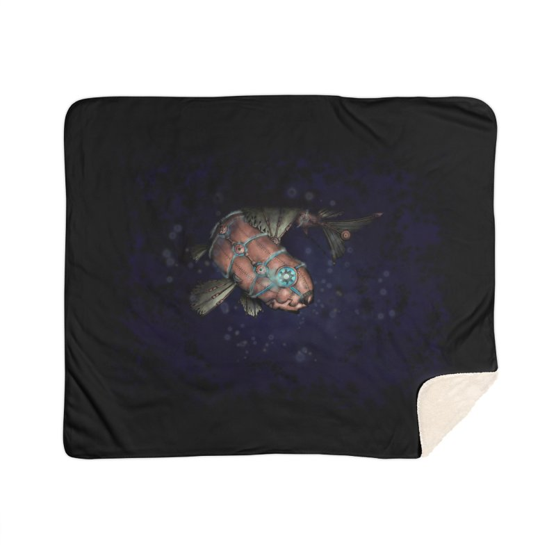 Mecha Carp Home Blanket by bluetea1400's Artist Shop
