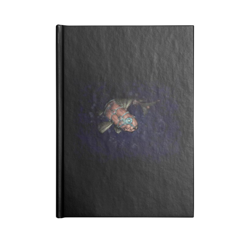 Mecha Carp Accessories Blank Journal Notebook by bluetea1400's Artist Shop