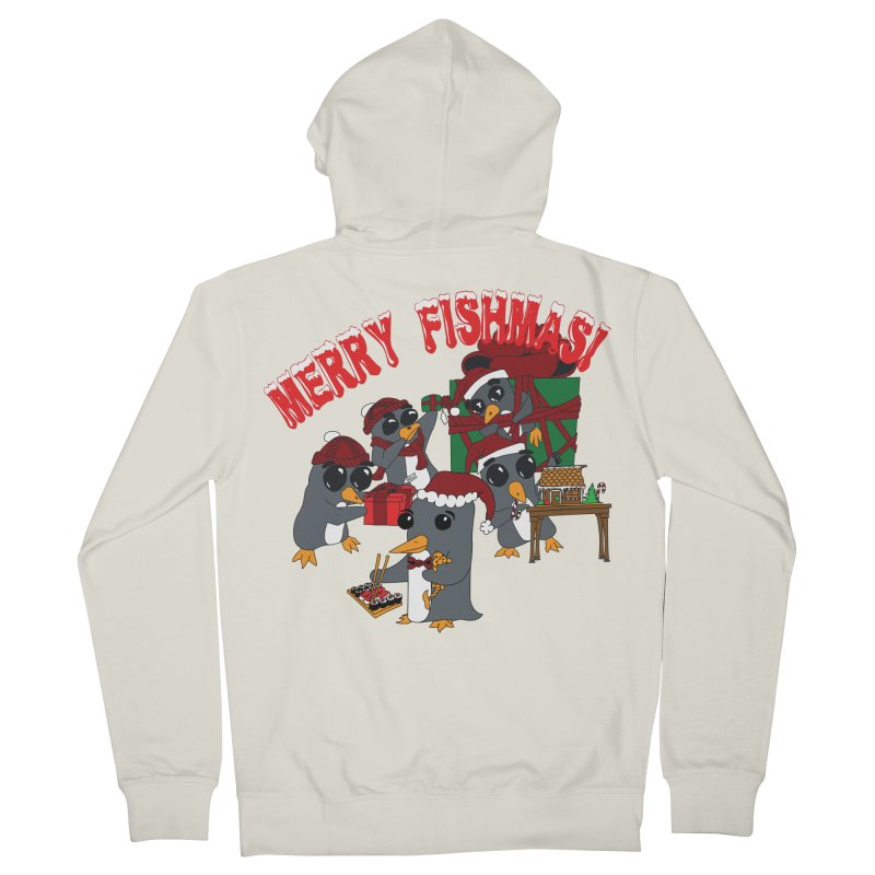 Penguins Fishmas Men's Zip-Up Hoody by bluetea1400's Artist Shop