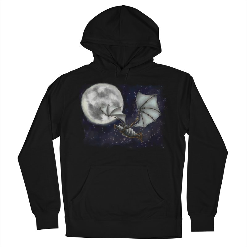 Mecha Bat Women's French Terry Pullover Hoody by bluetea1400's Artist Shop