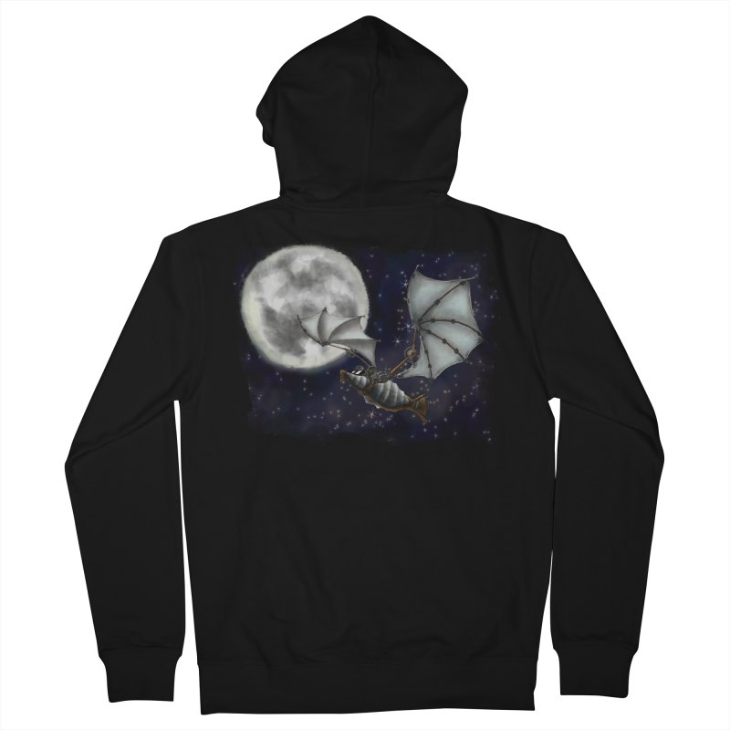 Mecha Bat Men's French Terry Zip-Up Hoody by bluetea1400's Artist Shop