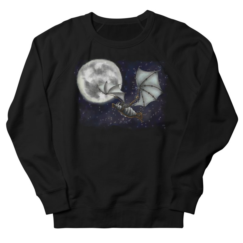 Mecha Bat Women's French Terry Sweatshirt by bluetea1400's Artist Shop