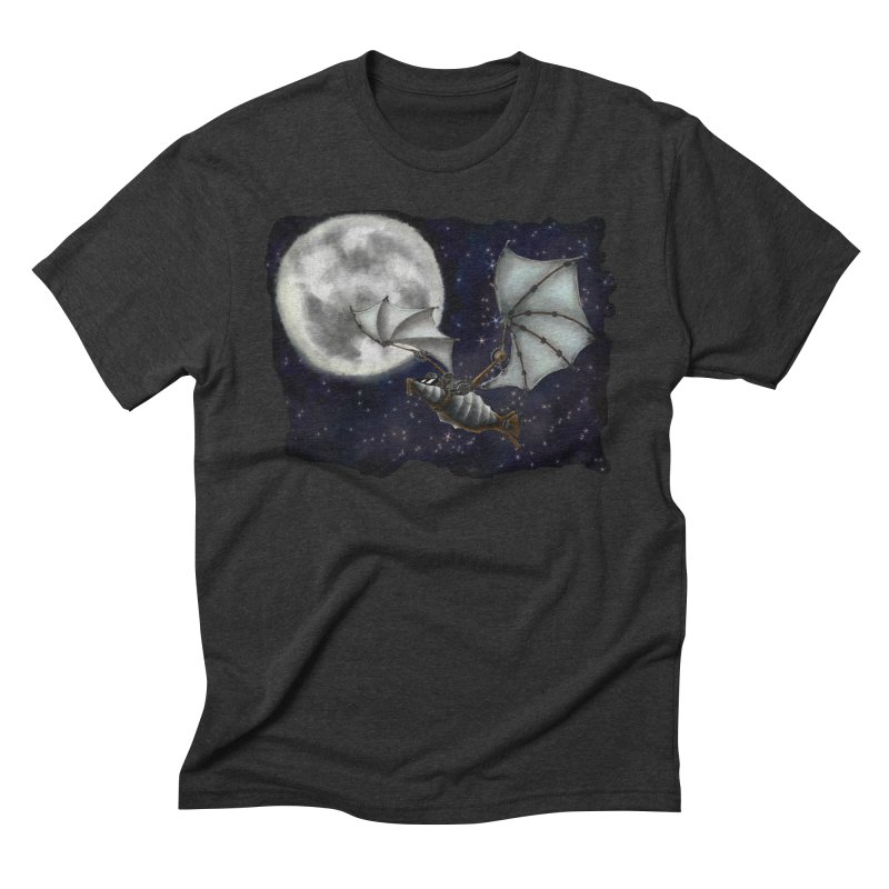 Mecha Bat Men's Triblend T-Shirt by bluetea1400's Artist Shop