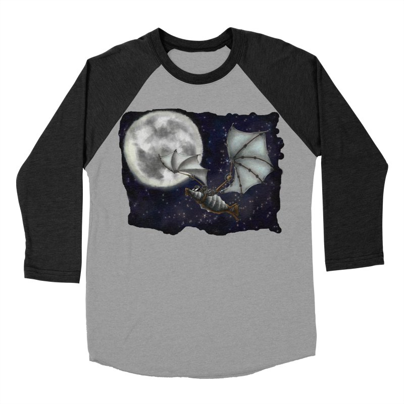 Mecha Bat Women's Baseball Triblend Longsleeve T-Shirt by bluetea1400's Artist Shop