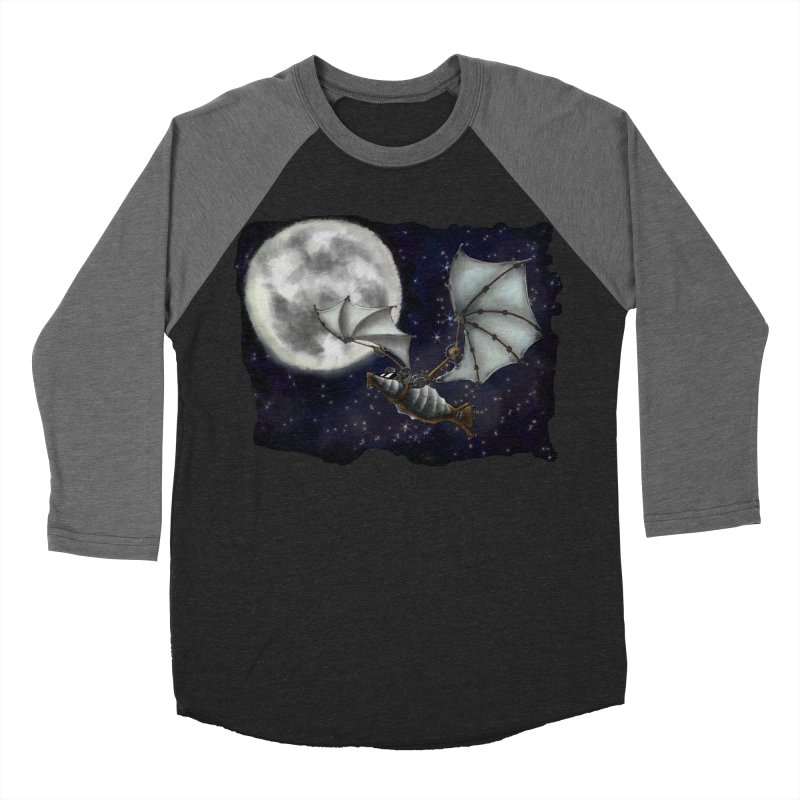 Mecha Bat Men's Baseball Triblend Longsleeve T-Shirt by bluetea1400's Artist Shop