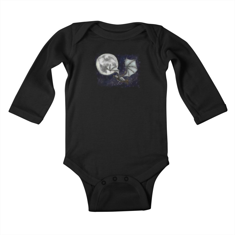 Mecha Bat Kids Baby Longsleeve Bodysuit by bluetea1400's Artist Shop