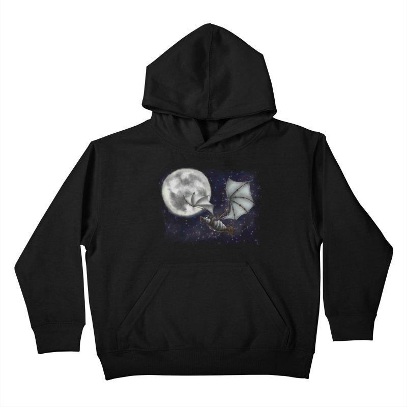 Mecha Bat Kids Pullover Hoody by bluetea1400's Artist Shop