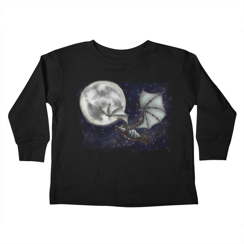 Mecha Bat Kids Toddler Longsleeve T-Shirt by bluetea1400's Artist Shop