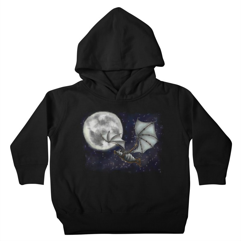 Mecha Bat Kids Toddler Pullover Hoody by bluetea1400's Artist Shop