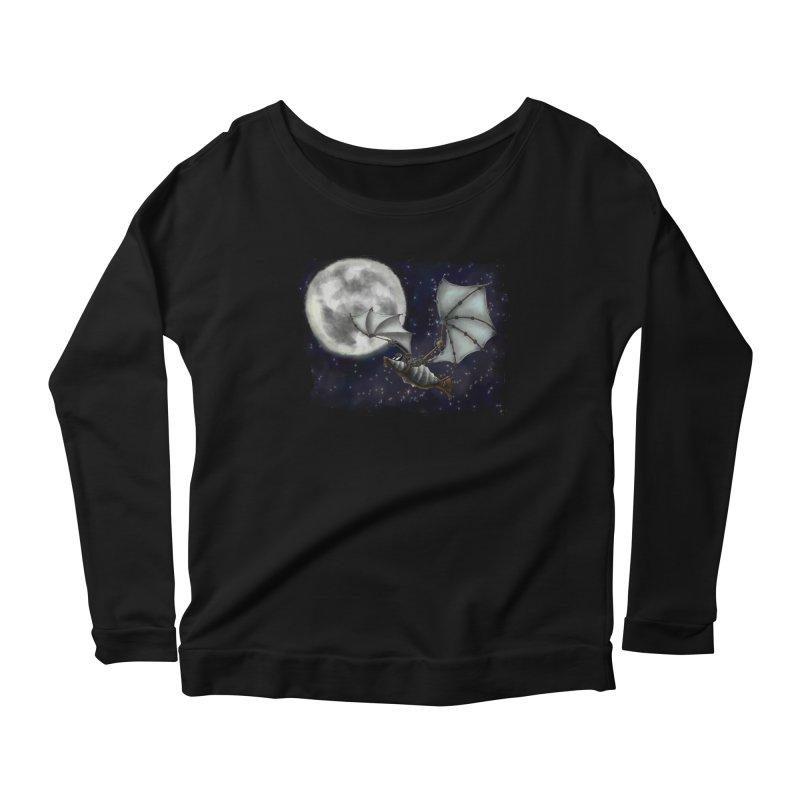 Mecha Bat Women's Scoop Neck Longsleeve T-Shirt by bluetea1400's Artist Shop