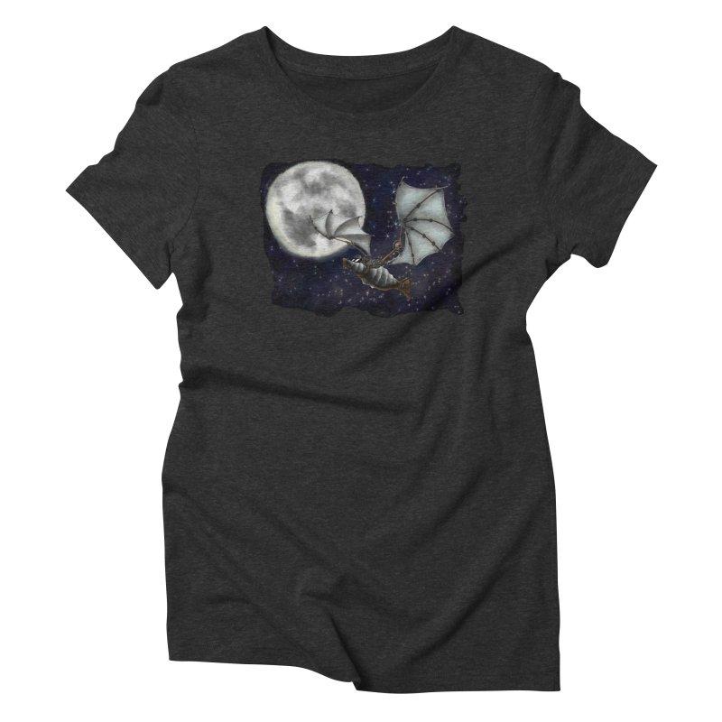 Mecha Bat Women's Triblend T-Shirt by bluetea1400's Artist Shop