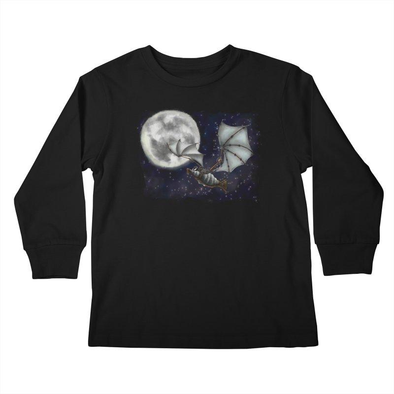 Mecha Bat Kids Longsleeve T-Shirt by bluetea1400's Artist Shop