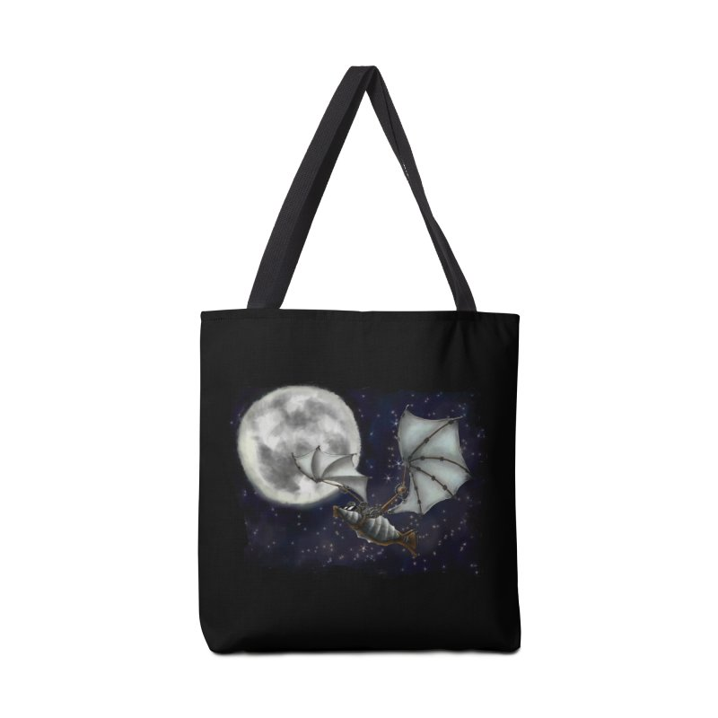 Mecha Bat Accessories Tote Bag Bag by bluetea1400's Artist Shop