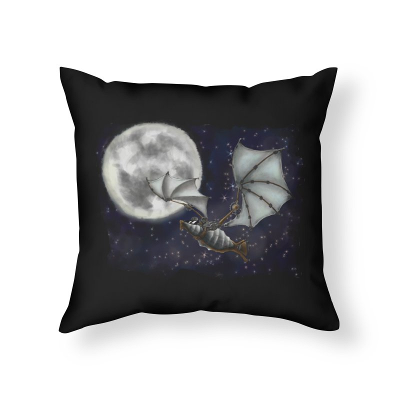 Mecha Bat Home Throw Pillow by bluetea1400's Artist Shop