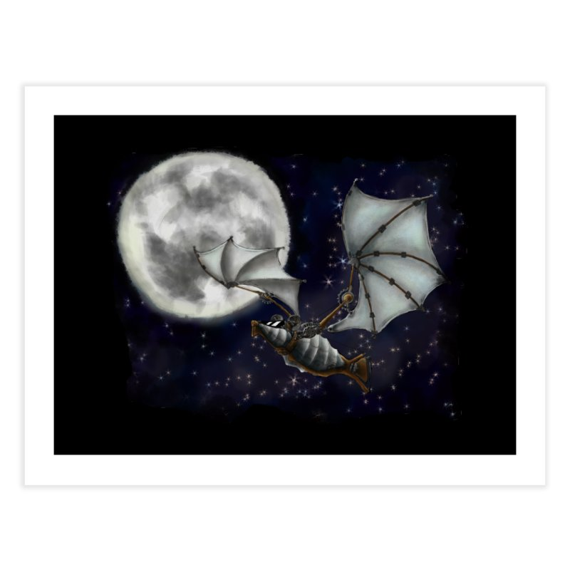 Mecha Bat Home Fine Art Print by bluetea1400's Artist Shop