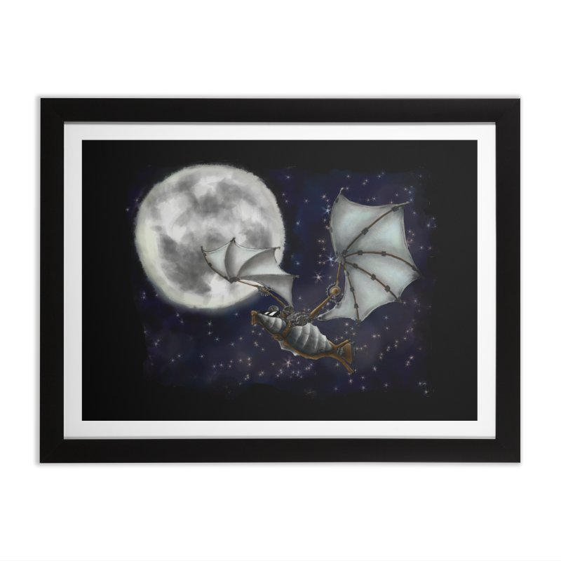 Mecha Bat Home Framed Fine Art Print by bluetea1400's Artist Shop