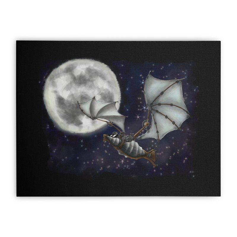 Mecha Bat Home Stretched Canvas by bluetea1400's Artist Shop