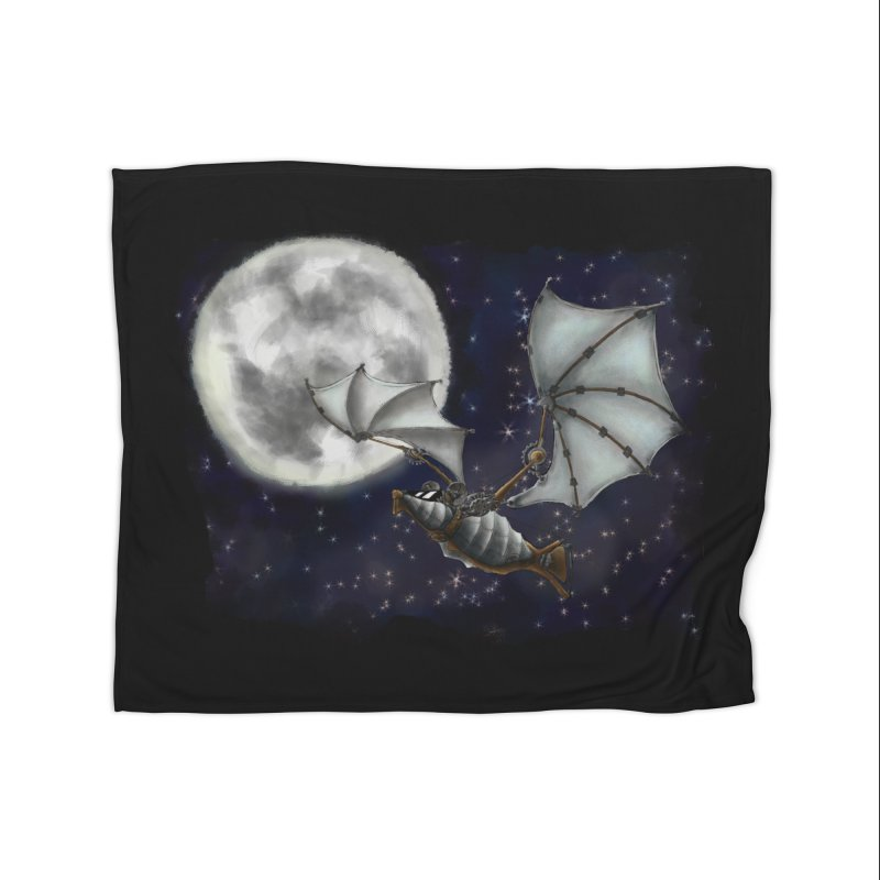 Mecha Bat Home Fleece Blanket Blanket by bluetea1400's Artist Shop