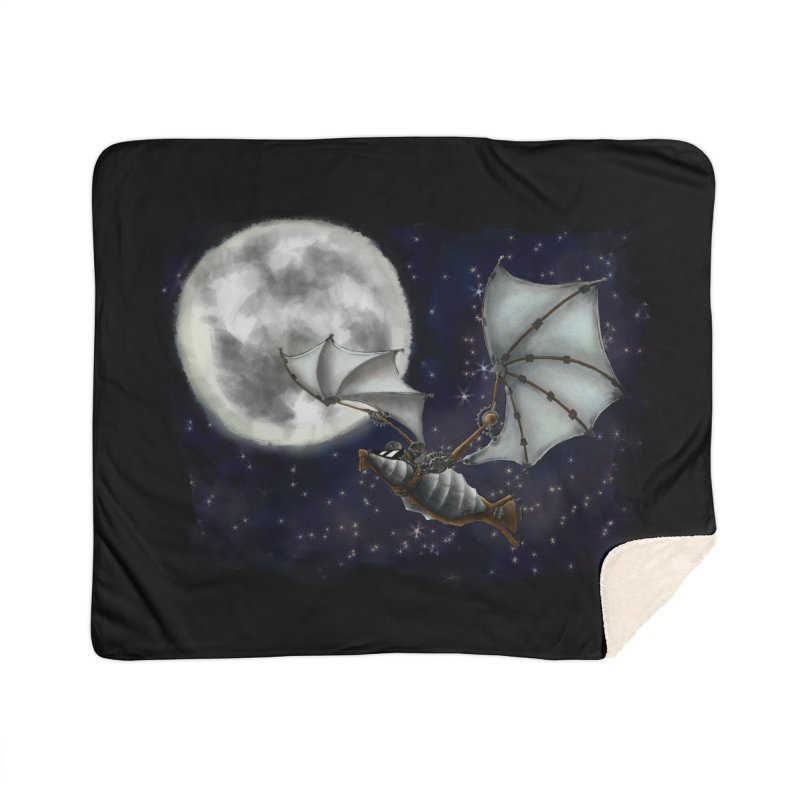 Mecha Bat Home Sherpa Blanket Blanket by bluetea1400's Artist Shop