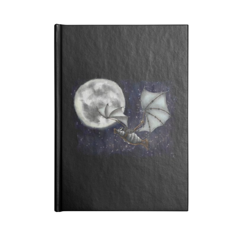 Mecha Bat Accessories Blank Journal Notebook by bluetea1400's Artist Shop